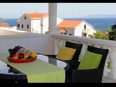 Photo for Apartment Mari  A2(4)  - Bol, Island Brac, Croatia
