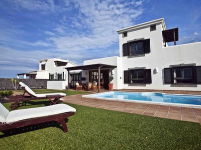 Photo for Fabulous Villa In Playa Blanca With Sea Views