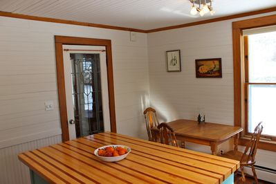 Small breakfast table in kitchen