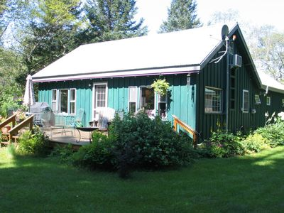Photo for Cozy, dog-friendly cottage w/ a full kitchen, furnished deck, & gas grilll