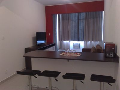 Photo for Newly renovated apartment in Copacabana, one block from the beach.