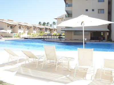 Photo for Flat with private pool, beachfront in the best location of Muro Alto