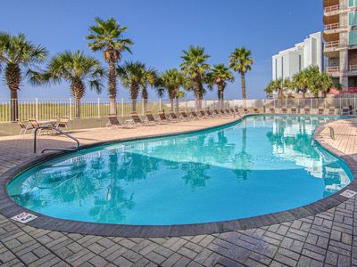 Photo for Gulf front condo w/ incredible views & shared pool, gym & sauna!