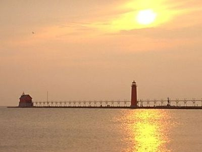 Photo for COTTAGES: Grand Haven, on Lake Mi 1/2 mi South of State Park $1975 Per/Week