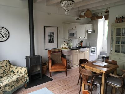 Living and kitchen area - fully equipped