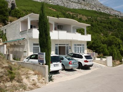 Photo for One bedroom apartment with terrace and sea view Lokva Rogoznica, Omiš (A-12906-b)