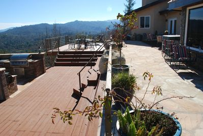 Outdoor dining, deck and BBQ