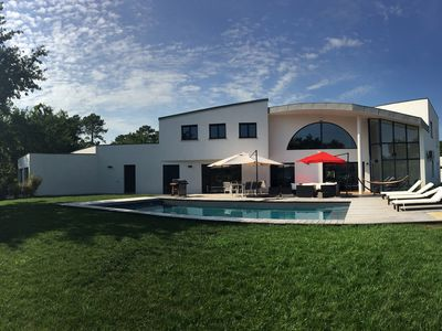 Photo for Exceptional architect villa in a popular area of Andernos
