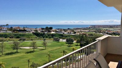 Photo for Apartment with beautiful sea views, air conditioning, parking and pool