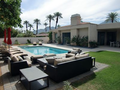 Photo for SEASONAL SALE!!  Luxurious 3-Bedroom Desert Oasis in Exclusive Indian Wells