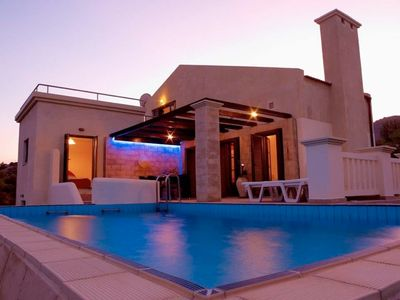 Photo for Private spacious air conditioned Villa with pool and sea views in Lindos Area.