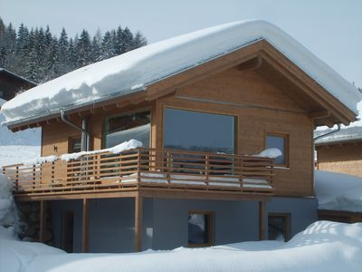 Photo for New Luxury Chalet with panoramic view directly on the ski-slope