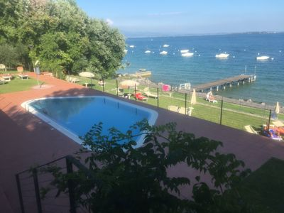 Photo for On Lakeside with 3 Pools and Tennis Courts - Apartment Azzurro