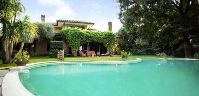 Photo for Immersed in the green countryside 12 km. from Rome with pool- sleeps 6