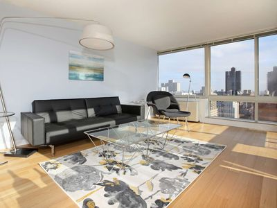Photo for Designer-decorated luxury 2 bed 2 Bath W/ Laundry In unit! Sky View GYM Deck!5174