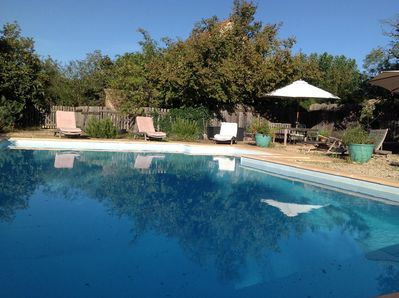 September evening round the pool