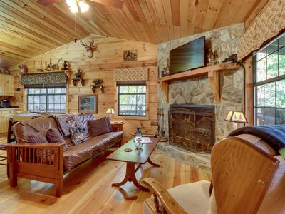 Photo for Dog-friendly, mountain, creekfront cabin - fantastic for nature photography