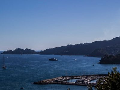 Photo for Modern and panoramic apartment in Rapallo, private garden, elevator