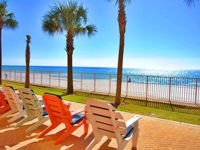 Photo for NEW TO VRBO!!!!!   Gulf Front 3 Bedroom/3 Bath Condo with oversized balcony!!!!