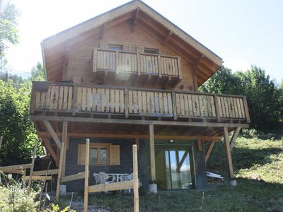 Photo for 45 m2 apartment on the ground floor of a wooden chalet