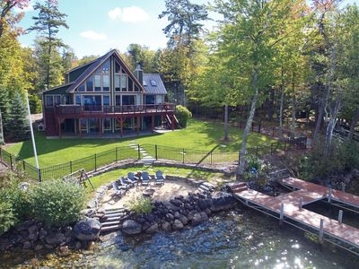 Photo for Pet-friendly waterfront home offers stunning sunset views for relaxing lake getaway