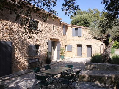Photo for Old farmhouse in charming stones with large swimming pool