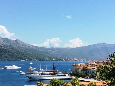 Photo for Apartment With Uninterrupted Water Views, Five Minutes Walk To Korcula Old Town