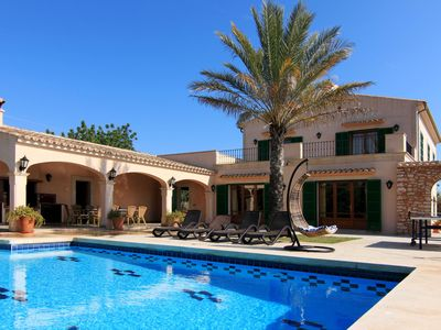 Photo for ES SERRAL - villa with private pool, terrace, garden and sea views - FREE WIF