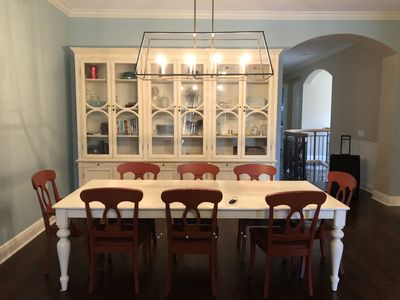 Formal kitchen table with hutch