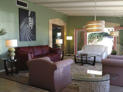 Photo for Large, Midcentury Modern, 6/7 bdrm ~6 bath  w/Lg Hot Tub- Garden Home On Park