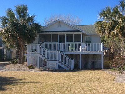 Photo for Ocean View! Classic Vintage Cottage directly across from beach access!!