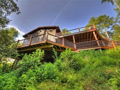 Photo for Overlooking River/WiFi/Hot Tub/Screened in Deck/Secluded but minutes from Down Town Blue ridge