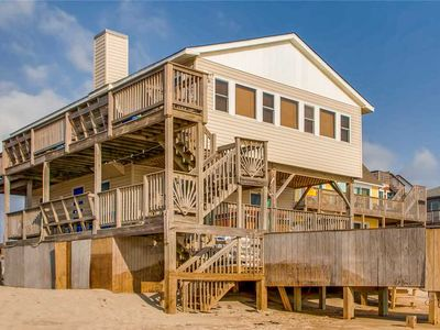 Photo for Oceanfront Kid-Friendly Paradise, Rodanthe w/ Hot Tub, Game Room, Dog-Friendly