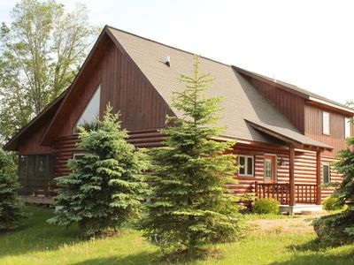 Photo for Lux True Log Lakehouse - 100% Privacy, Walk to Lake, Jacuzzi, Fireplace- Enjoy!