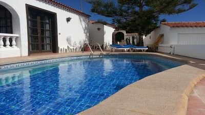 Photo for EXCELLENT TWO BEDROOMED  VILLA WITH STUNNING VIEWS AND PRIVATE HEATED POOL