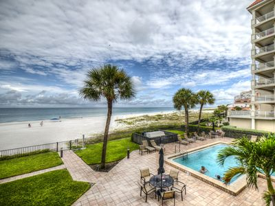 Photo for 2/2 Beachfront Condo on Redington Shores Beach with Heated Pool