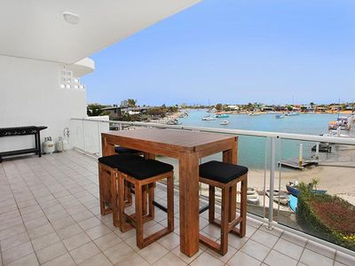 Photo for 2 bedroom apartment on canal, walking distance to the beach, save $20 per night