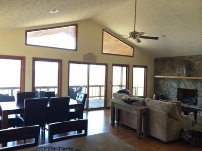 Photo for 3 Private Acres with Fire Pit Overlooking Beautiful Lake View! Extra Game Room!