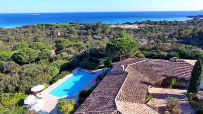 Photo for Villa 8 people panoramic view of Palombaggia Beaches. Sea access on foot.