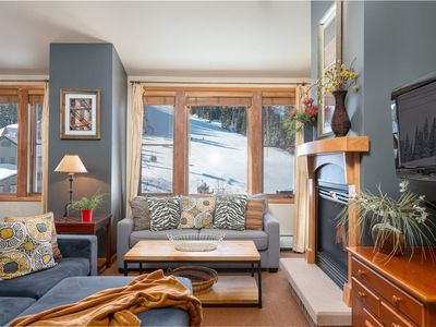 Photo for Penthouse Condo | Ski In/Ski Out | Oversized Windows | Awesome Views of Slopes!