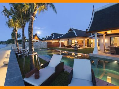 Photo for Maenam 6042 - Beachfront (sleeps 12 + 6 kids) Thai chef service and shared gym