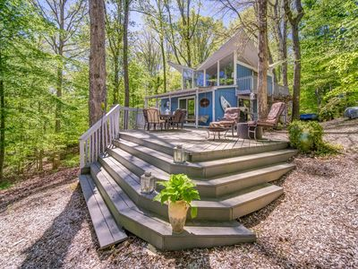 Photo for Super unique Lake Lanier Lake House  with Double Slip Party deck Dock