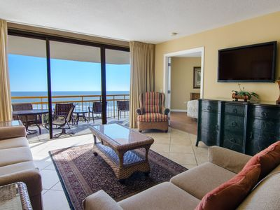Photo for Spacious Oceanfront 2 Bedroom Condo + Official On-Site Rental Privileges