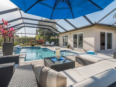Photo for In the Heart of Naples! Beach 1 Mile, Beautiful Private Back Yard & Heated Pool
