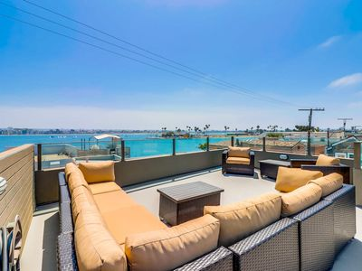 Photo for NEW LISTING! 2018 Brand New Luxurious Single-Family Beach House with Bay Views