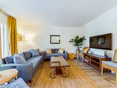 Photo for New listing! Townhome w/ shared pool & tennis - steps to golf & beach trolley!