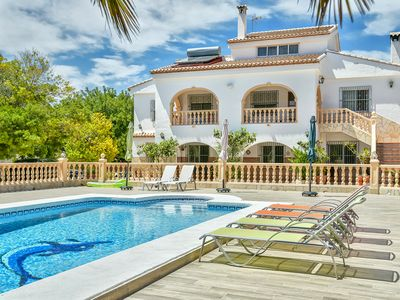 Photo for Holiday rental villa situated in Calpe (Costa Blanca) for maximum 10 people. Big villa located in a quite area of Calpe, close to the city center and to the beaches.