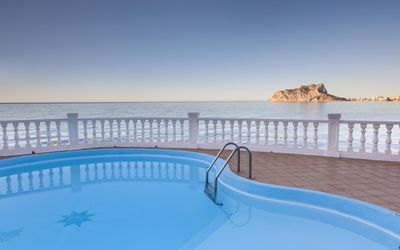 Photo for VILLA FOR RENT FOR 8 PEOPLE ON THE SEAFRONT IN CALA BALADRAR