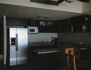 Kitchen with double filtered water