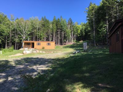 Photo for Luxury cabin getaway, secluded 24 acres on VAST trails, 25 min from Mt Snow